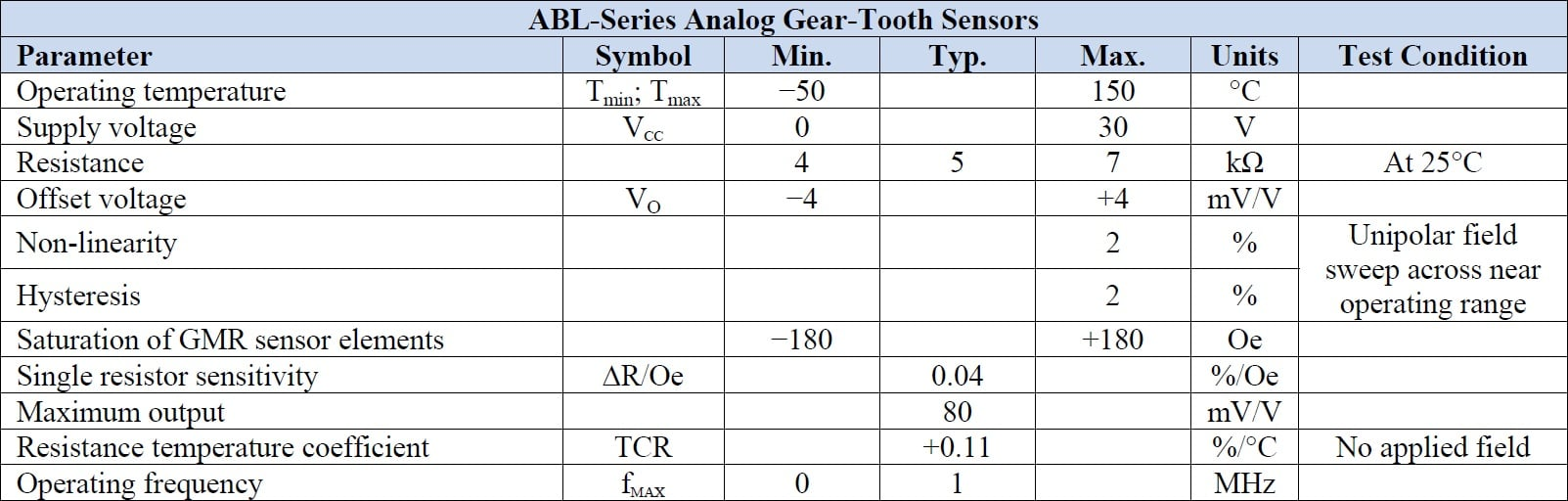 NVE ABL005-00E Specifications
